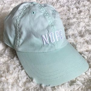 "PINK ""Nope"" Mint Hat Victoria's Secret"